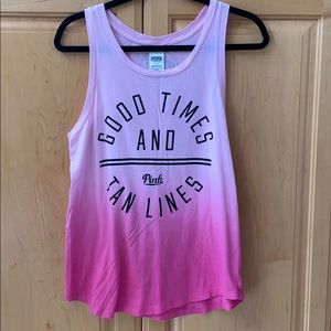 """PINK """"Good Times And Tan Lines"""" Tank"""